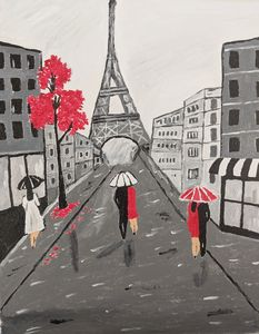 An evening in Paris - PaintStopByNandini