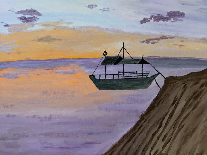 Sunset by the sea - PaintStopByNandini