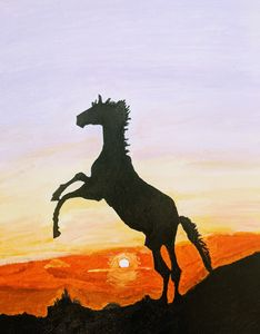 Horse Silhouette - PaintStopByNandini