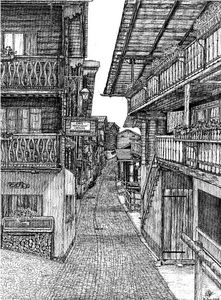 """Wooden houses"""" from Alpine village"""