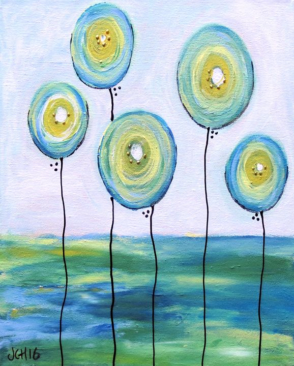 Blue Balloons - Groovy Gal Designs