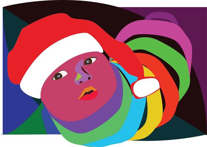 baby -xmas gift - World of Illustrations