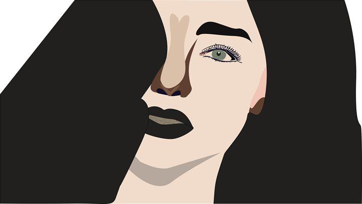 beautiful face - World of Illustrations