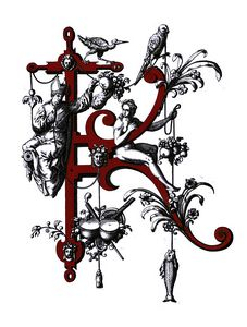 monogram K letter K initial K name K - Elegantchikovart