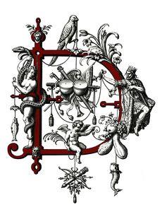monogram D letter D initial D name D - Elegantchikovart