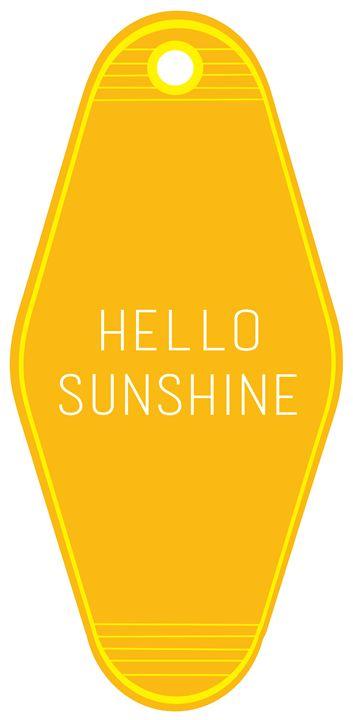 hello sunshine key tag - cathcono