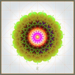 Green Flower Mandala