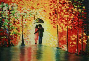"""The romantic rain in the park"""