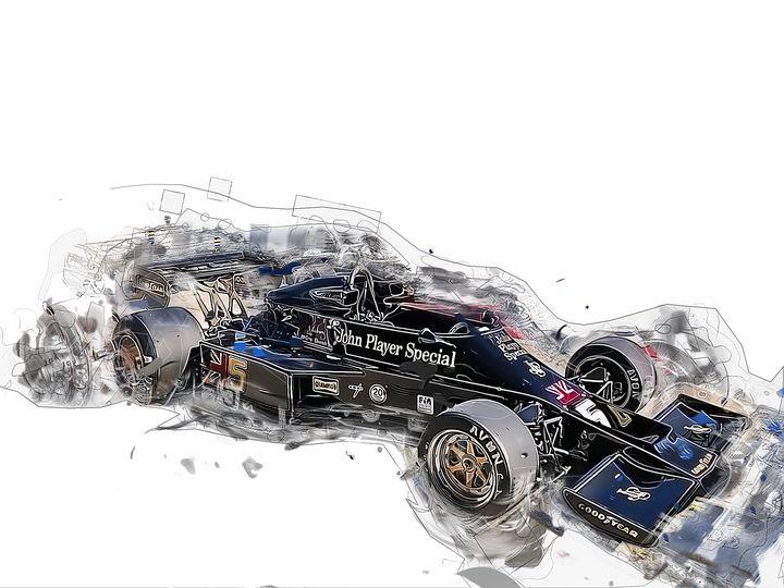 Lotus 77 Formula 1 Racing Sport Art - PB Art