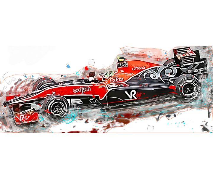 Lucas Di  Grassi Sport Art Print - PB Art