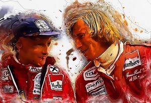 LEGENDS Niki Lauda and James Hunt