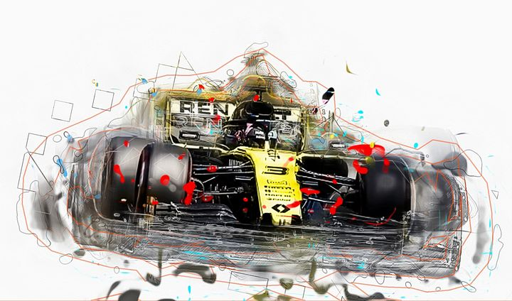 Daniel Ricciardo Renault Formula1 - PB Art