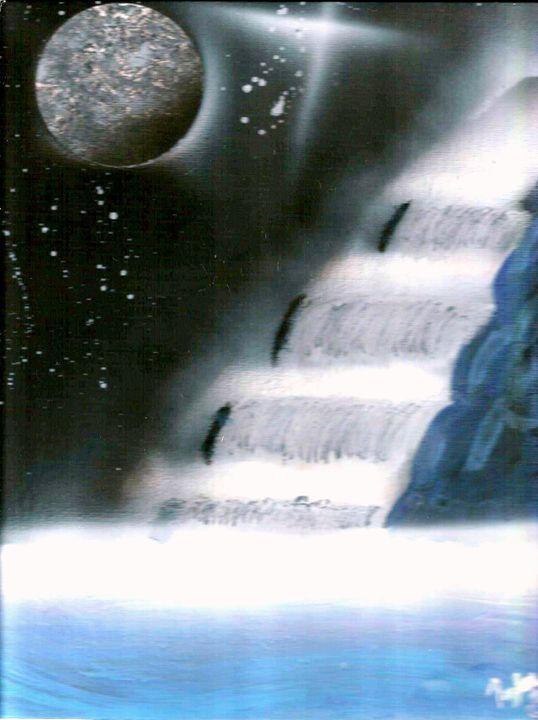 Moonlight Waterfall - BrooksSprayArt
