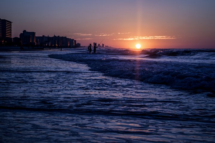 Surf Fishing at Sunrise - Myrtle Beach Days Collection