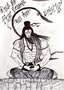 The powerful hanumaan penancing
