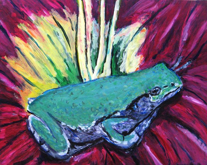 Frog in Flower - Brian Deming