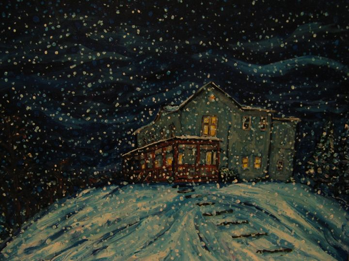The Farm House in Winter - Brian Deming
