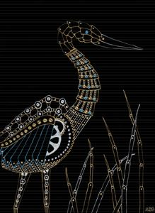 Steampunk Blue Heron