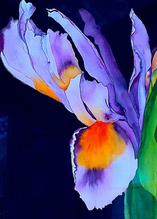 Purple Iris - Garewal Art Gallery