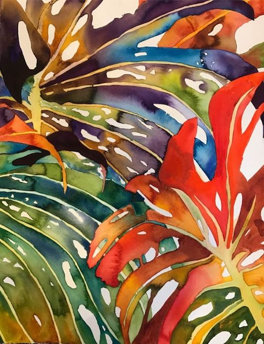 Hawaiin Leaves - Garewal Art Gallery