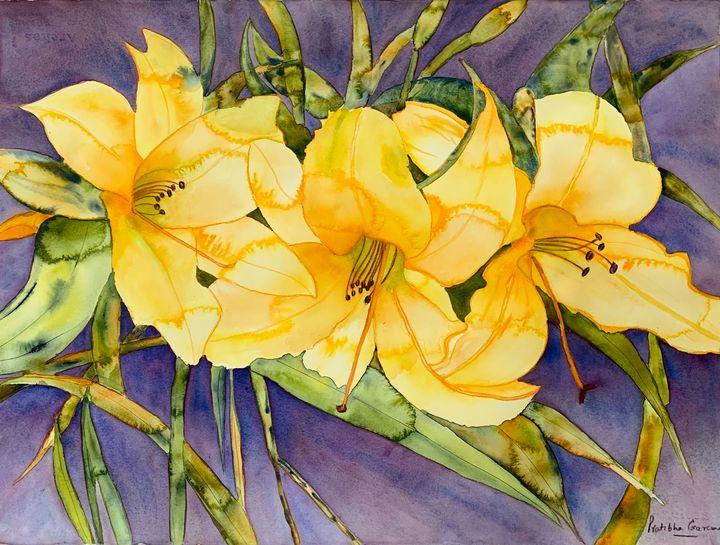 Blooming lillies - Garewal Art Gallery