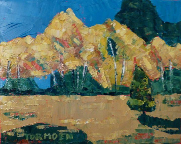 Aspen with Small Tree - Susan Tormoen