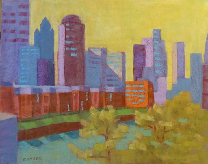 Chicago in Pastel - Susan Tormoen