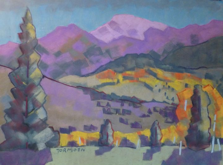 Aspen with Purple Mountain - Susan Tormoen