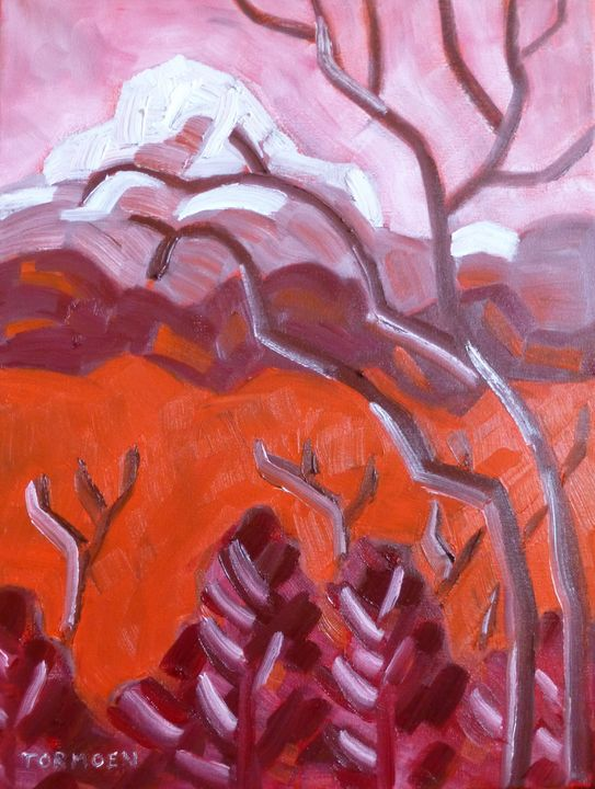 Out my  Window in Red - Susan Tormoen