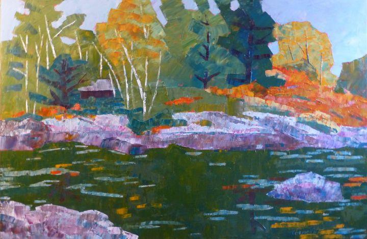 Cabin in the Birch Trees - Susan Tormoen