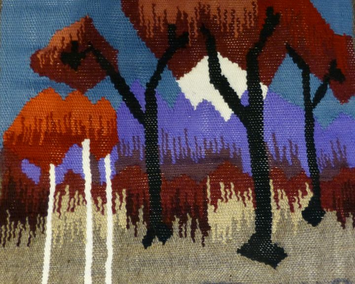 Tapestry with Snowcapped Mountain - Susan Tormoen