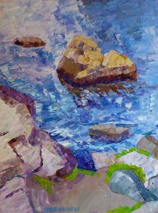 Rocks in Lake at Rocky Mt Park