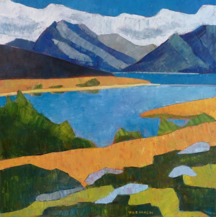 Mountains with Rocks and Lake - Susan Tormoen