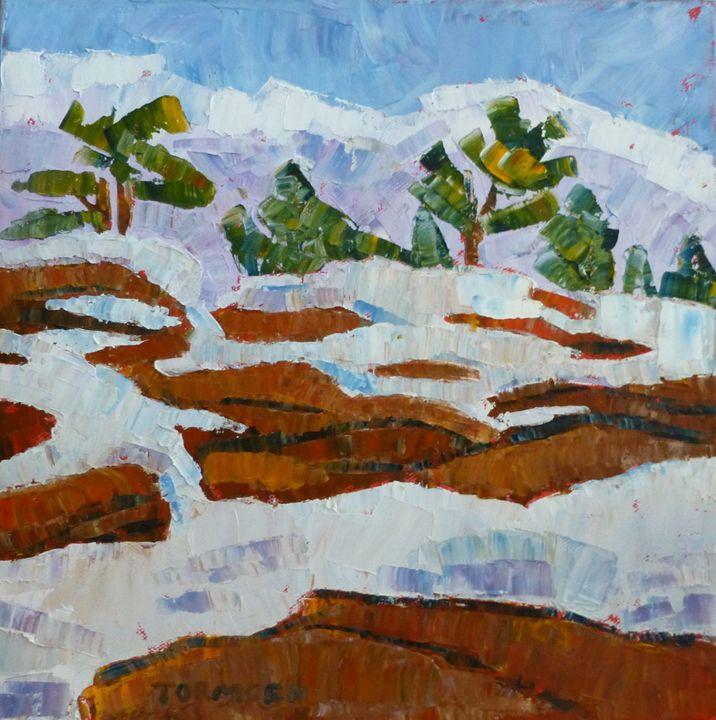Snow on the Rocks II - Susan Tormoen