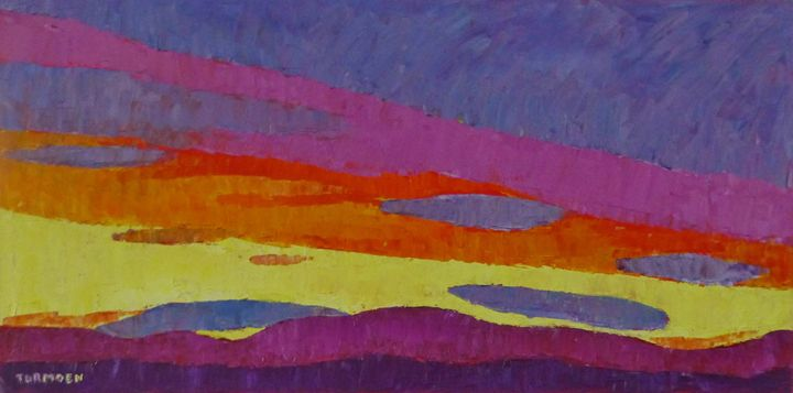 Sunset with Purple Clouds - Susan Tormoen