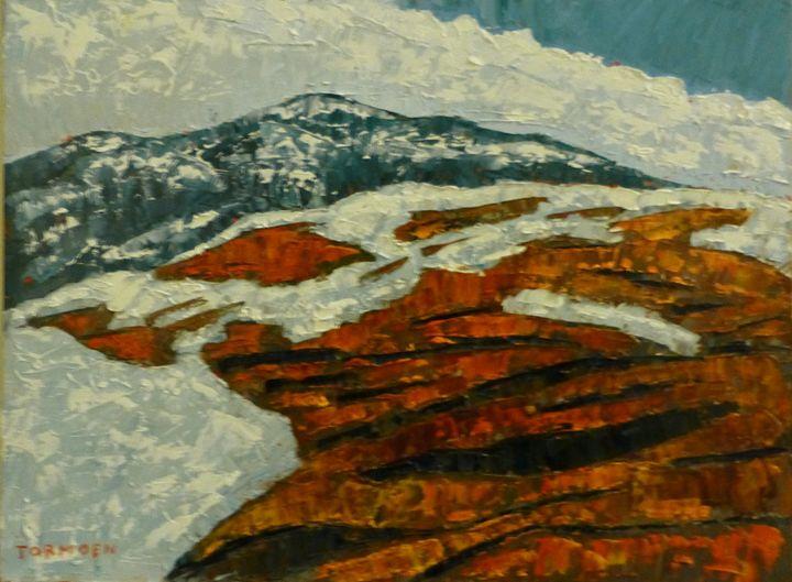 Red Rocks with Snow - Susan Tormoen