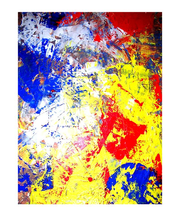 Caulk Abstract Painting #1 (2004) - F.R.@.M.E.X