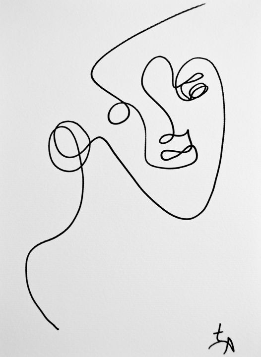Fiona & Single Line Drawing - TArt
