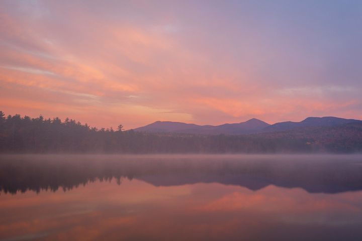 Pink Sunrise over Lake Chocoroa - Ryan Houde Photography