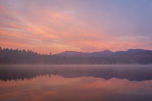 Pink Sunrise over Lake Chocoroa