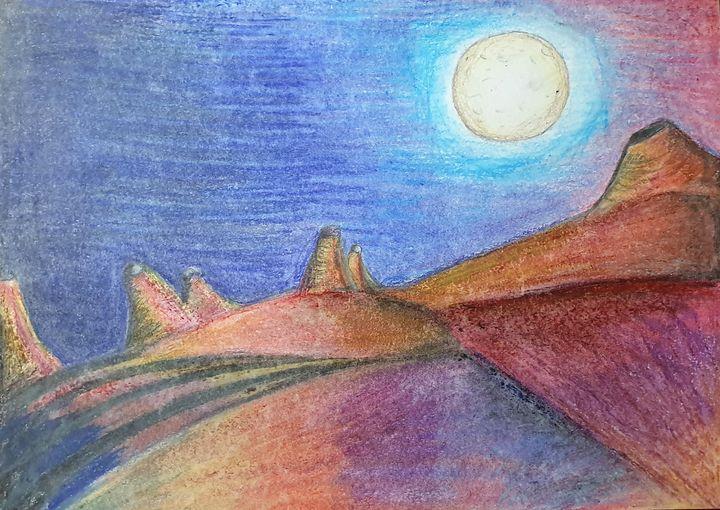 New planet, new moon - Cat crea