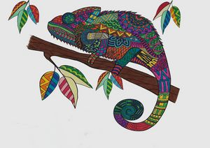Lizard Mandala - Nile Arts