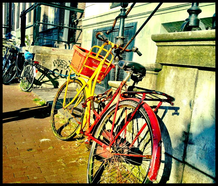 Red Yellow Bicycle -  Chezsievers
