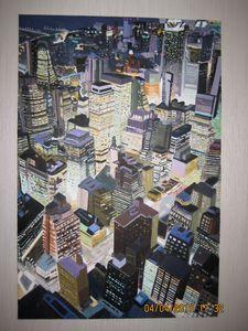 """New York by night. 36""""x24"""""""
