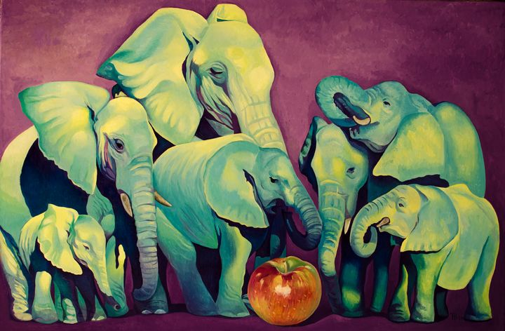 Elephant's Football - Tatyana Binovska Art