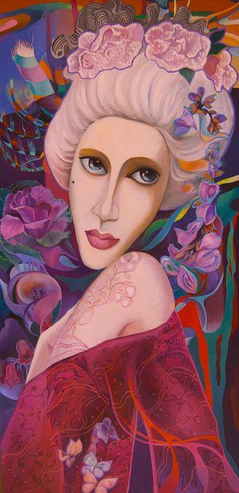 """Lady with """"Mushka"""" - Tatyana Binovska Art"""