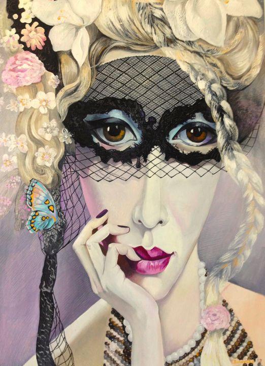 Lady in Mask - Tatyana Binovska Art
