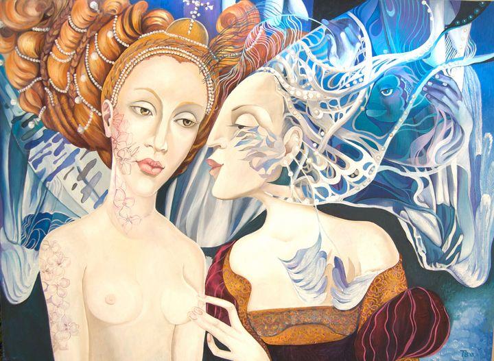 Lady Autumn and Lady Winter - Tatyana Binovska Art
