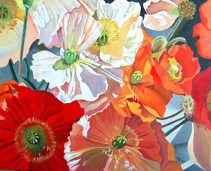Poppies - Tatyana Binovska Art