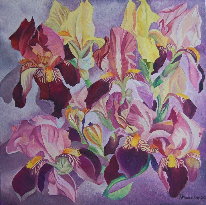 Spring. Irises - Tatyana Binovska Art